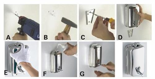 不鏽鋼皂液器安裝步驟圖