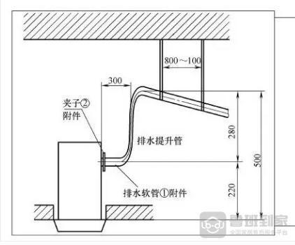 升泵的冷凝水管安装图例