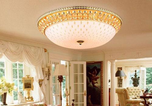 客厅水晶吸顶灯坏了怎么修