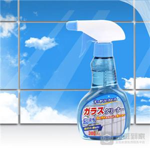 玉砂玻璃上痕迹处理之玻璃清洗剂除去
