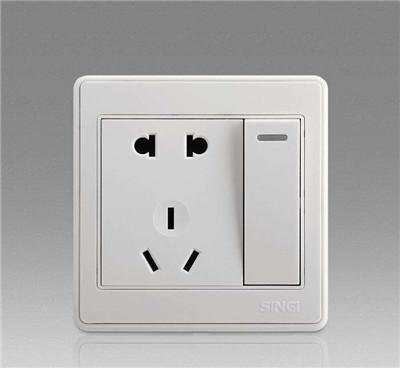 五孔开关插座怎么接线