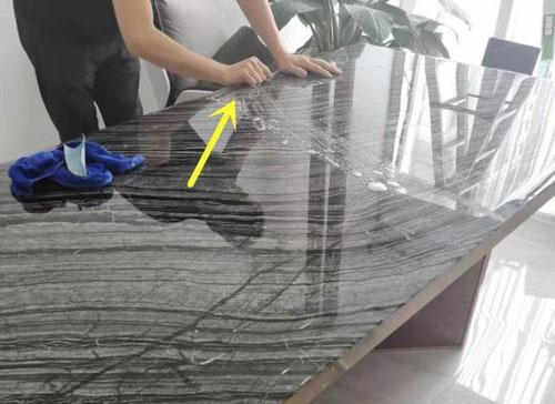 大理石桌面有裂缝修复步骤图5
