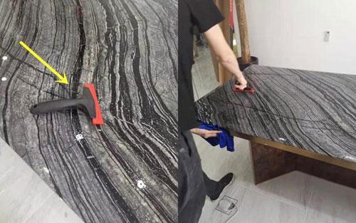 大理石桌面有裂缝修复步骤图7