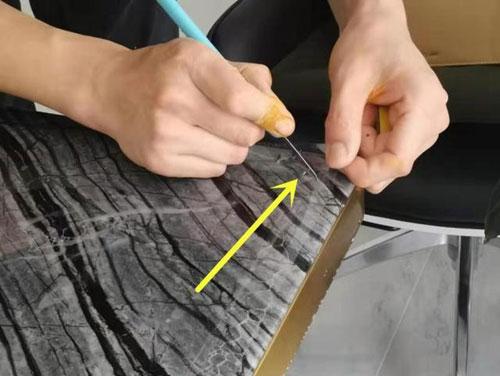 大理石桌面有裂缝修复步骤图10