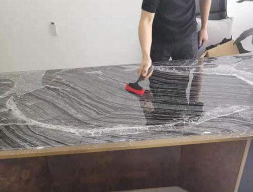 大理石桌面有裂缝修复步骤图12
