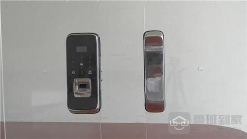 海康威视玻璃门智能锁安装步骤