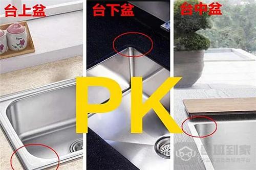 选择哪种水槽安装方式